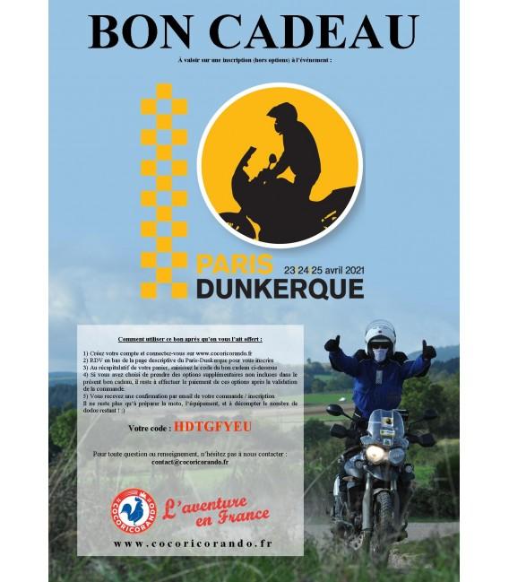 Bon-cadeau Paris-Dunkerque 2021